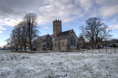 Irish Abbey at winter Stock Photography