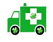 Irish Ambulance, Paddy Wagon. Irish Ambulance, ambulance with shamrocks on the sidePaddy Wagon Stock Photos