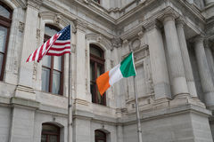 Irish and American Flag Royalty Free Stock Photo