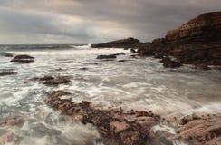 Irish atlantic coast. Rough irish west coast with movement in water Stock Image