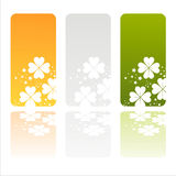 Irish Banners With Clovers Royalty Free Stock Photos