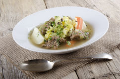 Irish beef stew with vegetable Royalty Free Stock Photography
