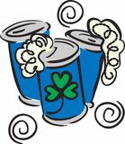Irish Beer Cans Stock Photo
