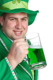 Irish Beer Man. St patricks irish beer man Stock Photography