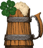 Irish beer mug color Stock Photos