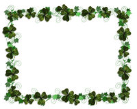 Irish border Ivy and Shamrocks Royalty Free Stock Photos