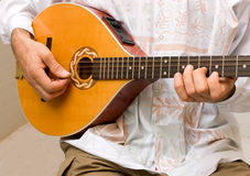 Irish bouzouki player Royalty Free Stock Images