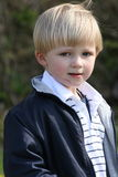 Irish boy. This small boy is thinking and watching carefully Stock Photos