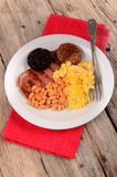 Irish breakfast on a plate Royalty Free Stock Photography