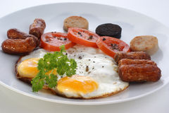 Irish breakfast with tomato Stock Image