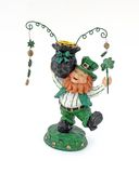 Irish Candlestick holder. Leprechaun candlestick holder statue stock images