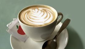 Irish Cappuccino made of milk with on it stock images