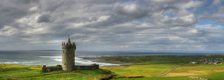 Irish castle. Doonagore castle in west Ireland Stock Photography