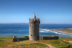 Irish castle. Doonagore castle near Doolin in Ireland Royalty Free Stock Photo