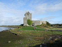 Irish castle. Dating to 15th century in county Galway Ireland Stock Image