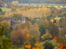 Irish castle amidsts woodland in autumn Stock Images