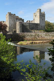 Irish castle of Cahir in morning light. Tipperary county , Ireland Stock Image