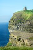 Irish Castle Cliffs of Moher Royalty Free Stock Photography