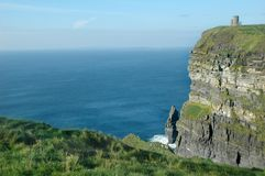 Irish Castle Cliffs Moher Stock Photography