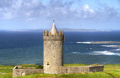 Irish castle in doolin Royalty Free Stock Photos