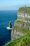Irish Castle Moher Stock Photography