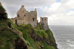 Irish Castle on the Northern Coastline Stock Photos