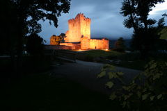 Irish castle view. View of Irish castle in county Kerry late in the evening Royalty Free Stock Image