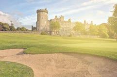 Irish castle from the west of ireland. beautiful sunset scenery Royalty Free Stock Photo