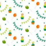 Irish celebration party seamless vector pattern. royalty free illustration