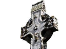 Irish celtic cross. Isolated on white stock images