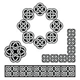 Irish Celtic design - patterns, knots and braids Stock Photos
