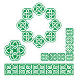 Irish Celtic green design - patterns, knots and braids Stock Photo