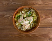 Irish chicken stew Stock Image