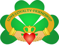 Free Irish Claddagh & Shamrock/eps Royalty Free Stock Images - 5121949