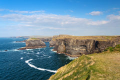 Irish cliffs of Kilkee Royalty Free Stock Photo