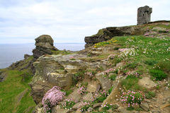 On irish Cliffs of Moher. Rocky landscape of Cliffs of Moher in Ireland Stock Images