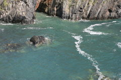 Irish cliffs scenery, cork county. Cliffs scenery at the end of irish summer Stock Photos