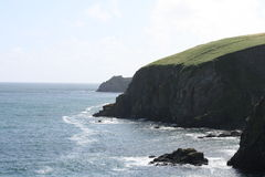 Irish cliffs scenery, cork county. Cliffs scenery at the end of irish summer Royalty Free Stock Photography