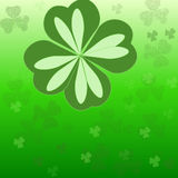 Irish Clover. A green background/wallpaper made up of various clovers laid out on a graduated green background royalty free illustration
