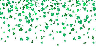 Irish clover leaves pattern for Saint Patrick Day shamrock on white vector background. Irish clover leaves pattern for Saint Patrick`s Day on white vector Stock Photography