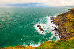 Irish coast. Breaking wave in the sea, Ireland Europe Stock Image