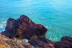 Irish coast. Breaking wave in the sea, Ireland Europe Royalty Free Stock Photos