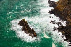 Irish coast. Breaking wave in the sea, Ireland Europe Royalty Free Stock Photo