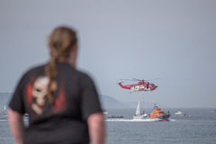 Irish Coast Guard in action. Stock Photo