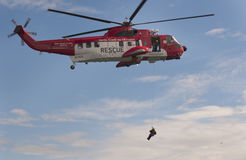 Irish Coast Guard Search and Rescue  helicopters Royalty Free Stock Photography