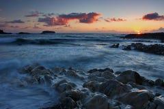 Irish Coast. An Irish rocky beach somewhere in Co. Donegal, Ireland stock photography