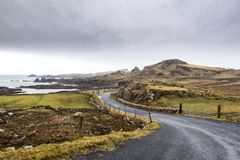 Irish Coastal road. This is a road close to Malin Head the northern most point of Ireland Royalty Free Stock Photos