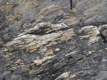 Irish Coastal Rocks. Stone texture from the shores of West Cork, ireland royalty free stock photos