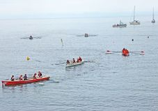 Irish Coastal Rowing Championships Carnlough Co. Antrim. Irish Coastal Rowing Championships Carnlough Antrim stock images