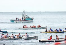 Irish Coastal Rowing Championships Carnlough Co. Antrim. Irish Coastal Rowing Championships Carnlough Antrim royalty free stock photos